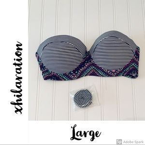 EUC L xhilaration Underwire Push-up Bikini Top